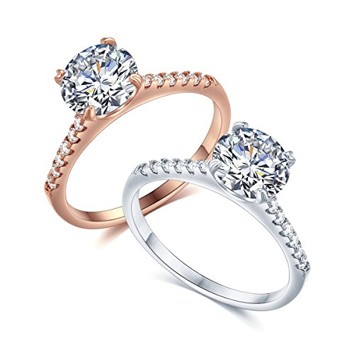 - Sego Alchemy 2 CT. Round Cut AAA Cubic Zirconia Stone Sterling Silve-Plated Bronze Base Engagement Ring Wedding Ring Promise Ring Rings for Women Life Time Warranty for Color Changed