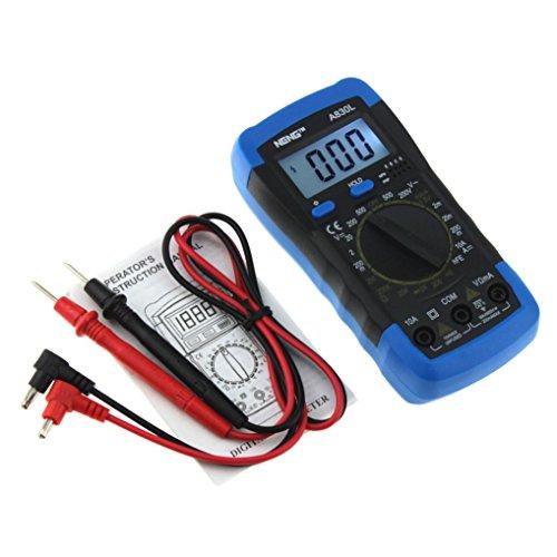 LtrottedJ ANENE A830L - Voltímetro digital amperimetro y ohmio, voltímetro, medidor de corriente alterna: Amazon.es: Bricolaje y herramientas