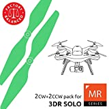 3dr Solo Propellers Upgrade Set Green - x4 propellers