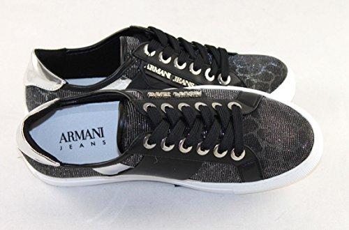 Armani Jeans Dames Schoenen Schoen Sneaker 925.207 Zwart