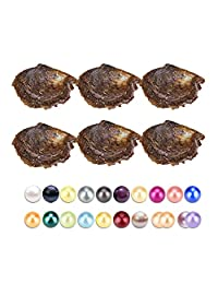 30PCS of Mix 20 Colors Single and Twins Individual Package 6-8mm Saltwater Round Akoya Pearl Oyster