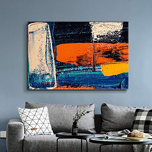NWT Canvas Wall Art Abstract Colorful Painting Artwork for Home Prints Framed - 32x48 inches