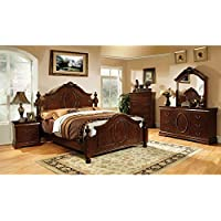 Velda English Style Warm Cherry Finish Eastern King Size 6-Piece Bedroom Set