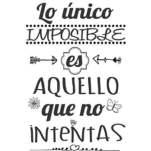 Frase Vinilolo único Imposible Es Aquello Vinilos Decorativos Frases Motivadoras Dc 16126 Vinilo De Corte 90x60cm