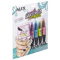 Alex Spa Hot Hues Sketch It Nail Pens Girls Fashion Activity