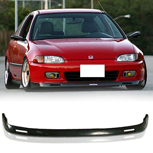 92 95 Civic Front Lip (92-95 Honda Civic 2/3 Door BYS Style Poly Urethane Add-On Front Bumper Lip)