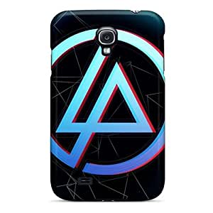 Bumper Hard Phone Case For Samsung Galaxy S4 (fCe11321CkAp) Custom Realistic Linkin Park Band Pattern