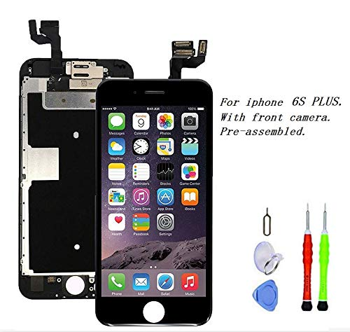 - Premium Screen Replacement compatible with iPhone 6s plus 5.5 inch Full Assembly - LCD 3D Touch Display digitizer with front camera, Ear Speaker and Sensors, compatible with all iPhone 6s plus (black)