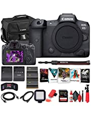 $4204 » Canon EOS R5 Mirrorless Digital Camera (Body Only) (4147C002) + 64GB Memory Card + Case + Corel Photo Software + 2 x LPE6 Battery + External Charger + Card Reader + Light + HDMI Cable + More (Renewed)