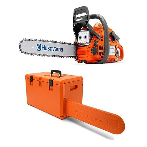 Husqvarna 450 II E Series 50.2cc 18 Inch Gas Powered Chainsaw with Powerbox Case