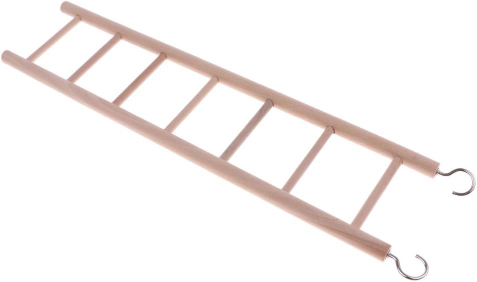 F Fityle Colgante De Madera Natural Escalera De Pared Escalera Hamster Gerbil Ratones Jaula Juguetes - 7 Escalera: Amazon.es: Juguetes y juegos