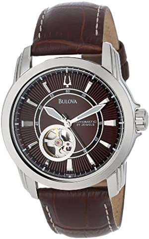 Bulova Men's 96A108 Stainless Steel and Brown Leather Automatic Mechanical Watch