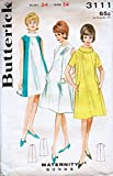 Butterick 3111 Misses Maternity Dress Vintage Sewing Pattern Check Offers for Size