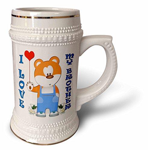 RinaPiro - Kids - I love my Brother. Teddy bear. Red heart.