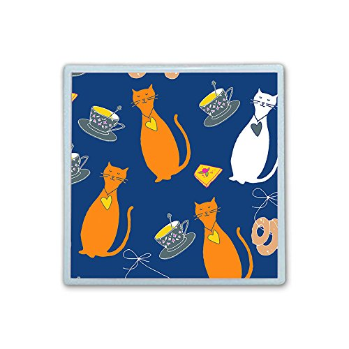 XIANN Care Contact Lens Box Holder Container Case Storage Eyecare Kit - Cute Bottle Cat by XIANN Care