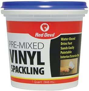 Red Devil 0534 Pre-Mixed Vinyl Spackling, 1 Quart, Pack of 1, White