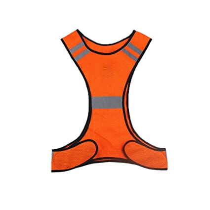 Thin Breathable Night Running Cycling LED Safety Security Reflective Vest TP Sicherheit & Reflektoren