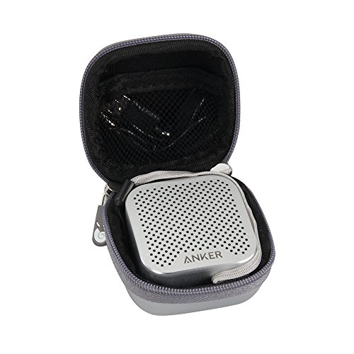 Hermitshell Hard EVA Travel Case Fits Anker SoundCore Nano Bluetooth Speaker (Silver)