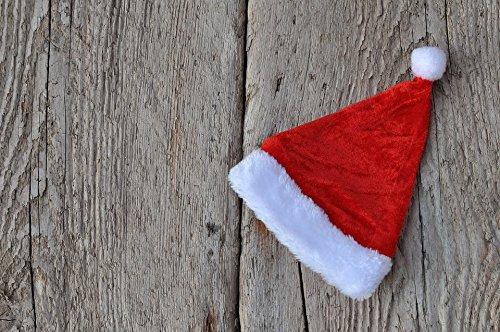 Laminated Wood Santa - Home Comforts LAMINATED POSTER Christmas Santa Hat Cap Background Wood Nicholas Poster 24x16 Adhesive Decal