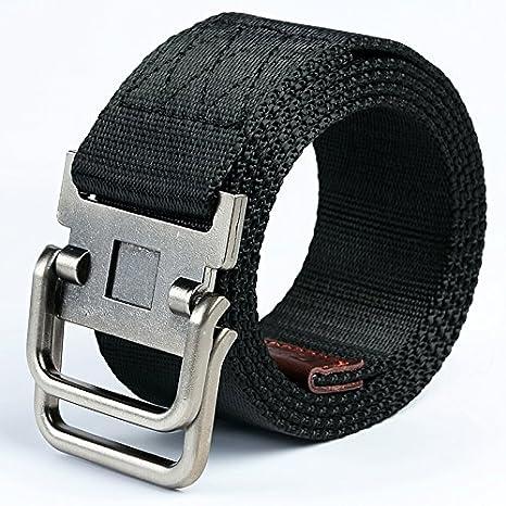 cerca l'originale a disposizione Liquidazione del 60% LLZZPPD Cintura Di Tela/ Cintura Doppia Fibbia In Tela ...