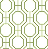 A-Street Prints 2625-21846 Circuit Modern Ironwork Wallpaper, Green