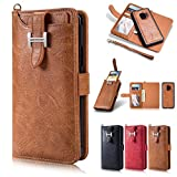 Samsung Galaxy S8 Plus Wallet Case, Galaxy S8 Plus Case with Card Holder, YiMiky Detachable PU Leather Kickstand Case Credit Card Slots Flip Cover for Samsung Galaxy S8 Plus-Light Brown