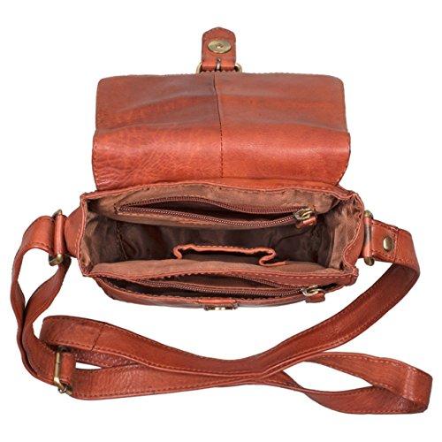 STILORD 'Kilian' Vintage Mensajero de piel pequeño Bolso bandolera / Bolso de piel Tablets hasta 8,4 pulgadas, Color:cognac - used cognac - used