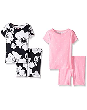 4 Piece Floral PJ Set (Baby)
