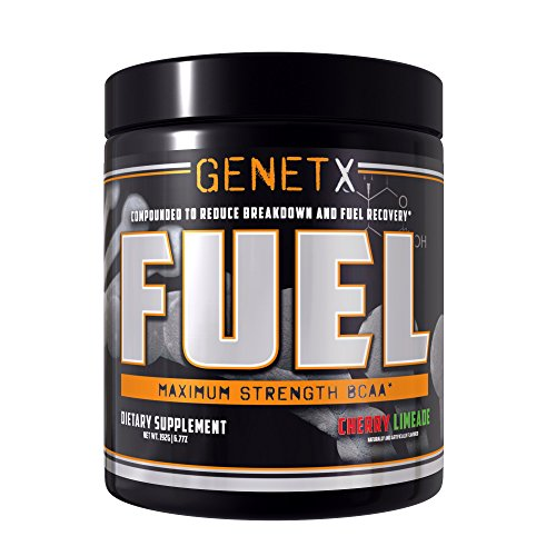 GenetX #1 BCAA Powder with AminoBlast® L-Leucine, Cherry Limeade, 30 servings.