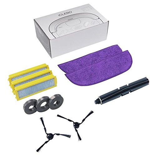 iClebo YCR-M07-10AC1 Replenishment Part Kit, Includes Brushes and Filters for O5 and Omega Robot Vacuum Cleaner