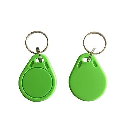 YARONGTECH MIFARE Classic® 1K llavero etiqueta verde color 100pcs