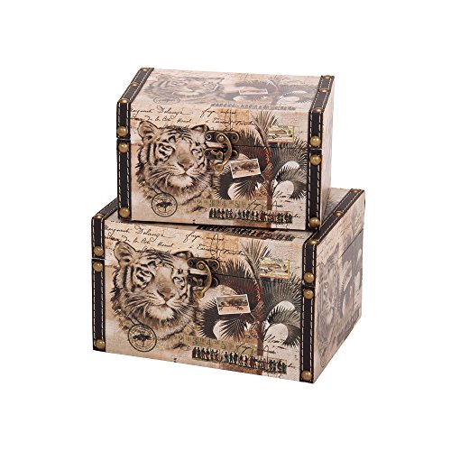 (Household Essentials Animal Kingdom Design Box (Set of 2), Medium and Small)