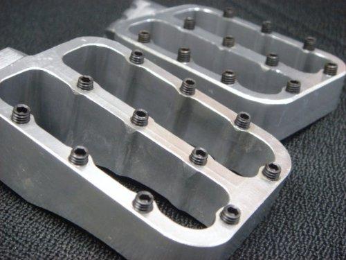 (CNC RACING FOOTPEGS FOOT PEGS SILVER PIT BIKE XR50 CRF50 SDG 107 SSR 125 FP10S)