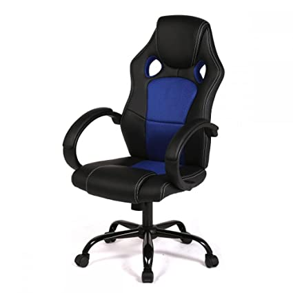 Back Racing Car Style Bucket Seat Office Desk Chair Gaming Chair  sc 1 st  Amazon.com & Amazon.com: Back Racing Car Style Bucket Seat Office Desk Chair ...