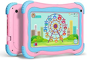 YUNTAB Q91 Tablet Infantil de 7 Pulgadas (Android 5.1, Quad-Core,Allwinner A33, WiFi, Bluetooth, HD 1024x600, 1+16GB, Tarjeta TF 32 GB, Doble Cámara, ...