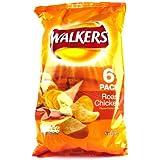 Walkers Roast Chicken Crisps 6 Pack 150g