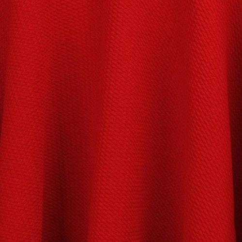 Mini Haute et Patineuse vase plisse Jupe Femme Lady Lenfesh Jupe Courte Taille Rouge wTqz5ngvS