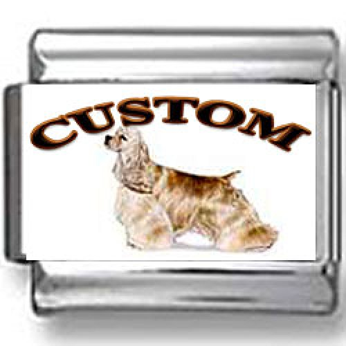 Cocker Spaniel Dog Custom Photo Italian Charm ()