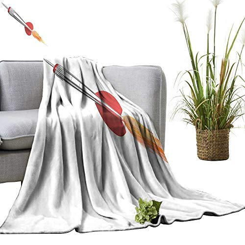 - YOYI Baby Blanket Dart Rocket Dart Arrow Made Like a Rocket Fire from Back Isolated. Indoor/Outdoor, Comfortable for All Seasons 70