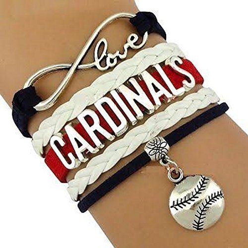 Cardinals Multi Strand Leather Like Team Charm Bracelet by Got To Have -