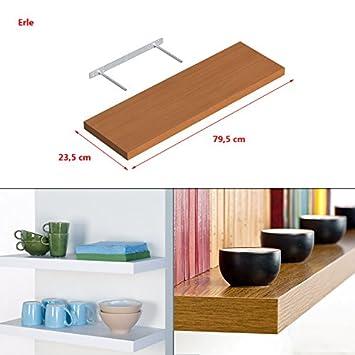 Wandboard Board Asteiche matt Wandregal Bücherregal Hängeregal Regal 23,5-118cm