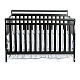 Dream On Me Liberty 5-in-1 Convertible Crib, Black