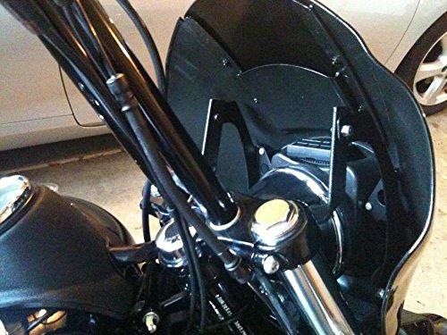 Front Quarter Fairing for Harley-Davidson Dyna T-Sport FXR Sportster (Gloss Black) by CaliBikerClub (Image #6)'