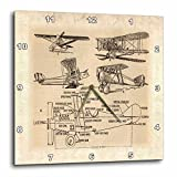 Cheap 3dRose dpp_62138_1 Early 1900s Sketch of Airplanes Wall Clock, 10 by 10-Inch