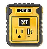 CAT CPI120 120W Power Inverter: 12V DC to 120V AC Power Outlet with USB Port