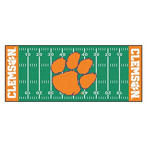 Tigers Runner Football (FANMATS NCAA Clemson University Tigers Nylon Face Football Field Runner by Fanmats)