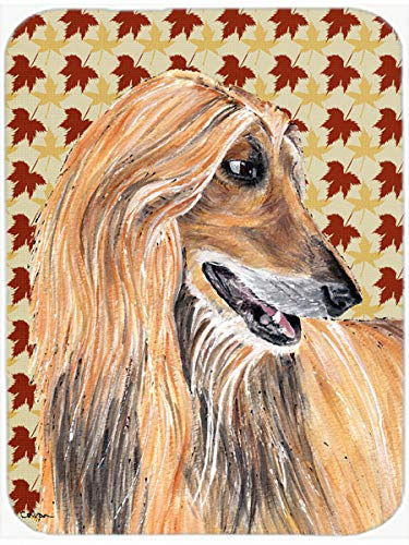 (Caroline's Treasures Afghan Hound Fall Leaves Mouse Pad/Hot Pad/Trivet (SC9504MP) )