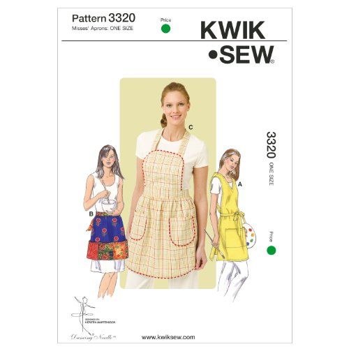- Kwik Sew K3320 Aprons Sewing Pattern, Size One Size