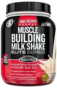 Six Star Pro Nutrition Elite Series  Muscle Building Milkshake 2lb Rich Vanilla Ice Cream - Protein Powder