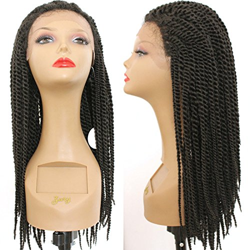 PlatinumHair black braids handmade collection synthetic lace front braided wigs for black women 24inch